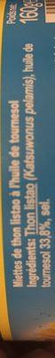 Miettes de thon listao péché à la canne - Ingredients