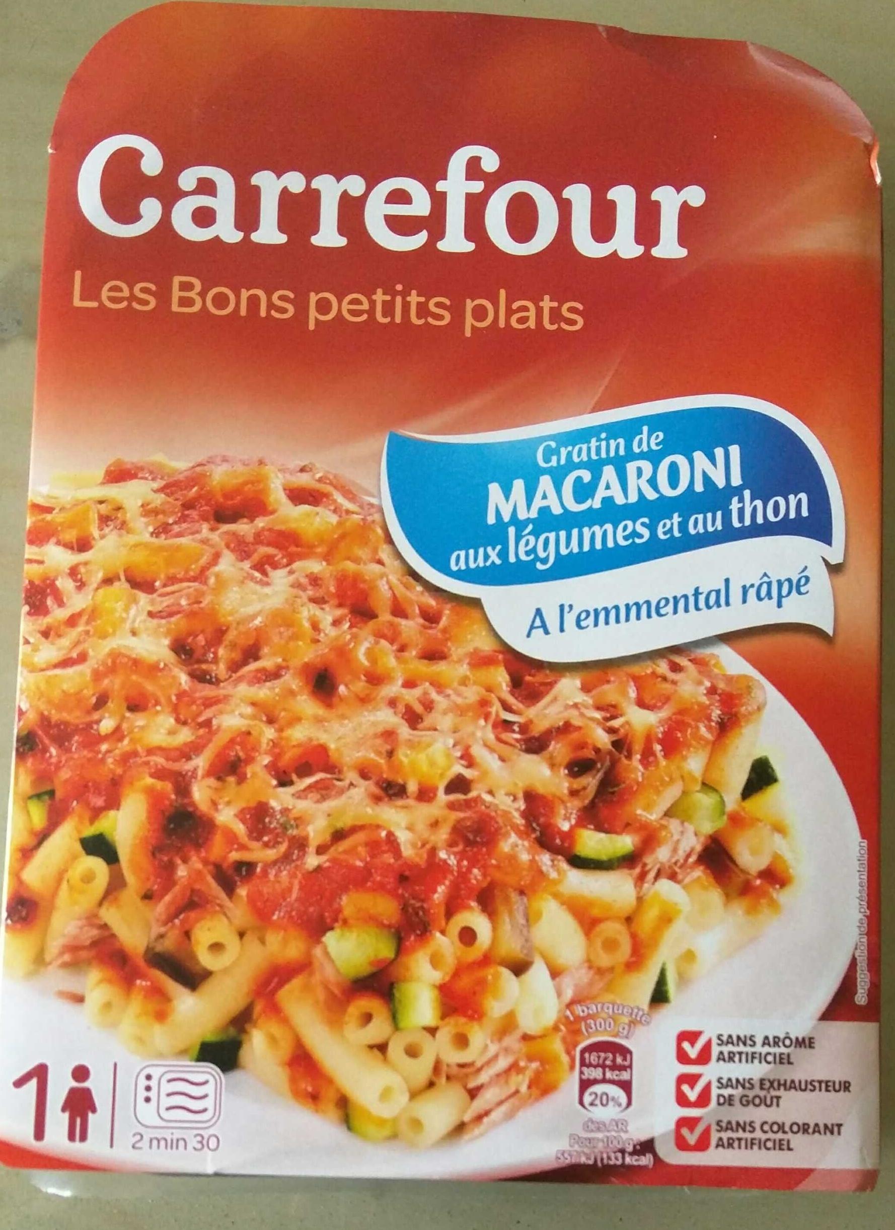 Gratin de macaroni aux légumes et au thon A l'emmental râpé - Produit - fr