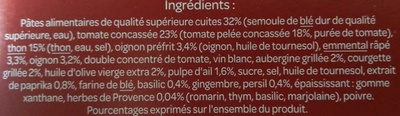 Gratin de macaroni aux légumes et au thon A l'emmental râpé - Ingrédients - fr