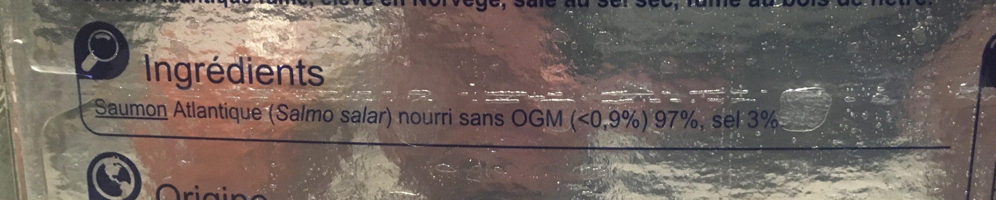 Saumon fumé norvege - Ingrediënten