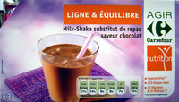 Milk-Shake substitut de repas, saveur chocolat (x 3) - Product