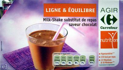Milk-Shake substitut de repas, saveur chocolat (x 3) - Product - fr