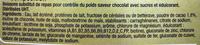 Milk-Shake substitut de repas, saveur chocolat (x 3) - Ingrediënten