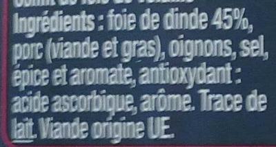 Confit de foie de volaille - Ingrédients