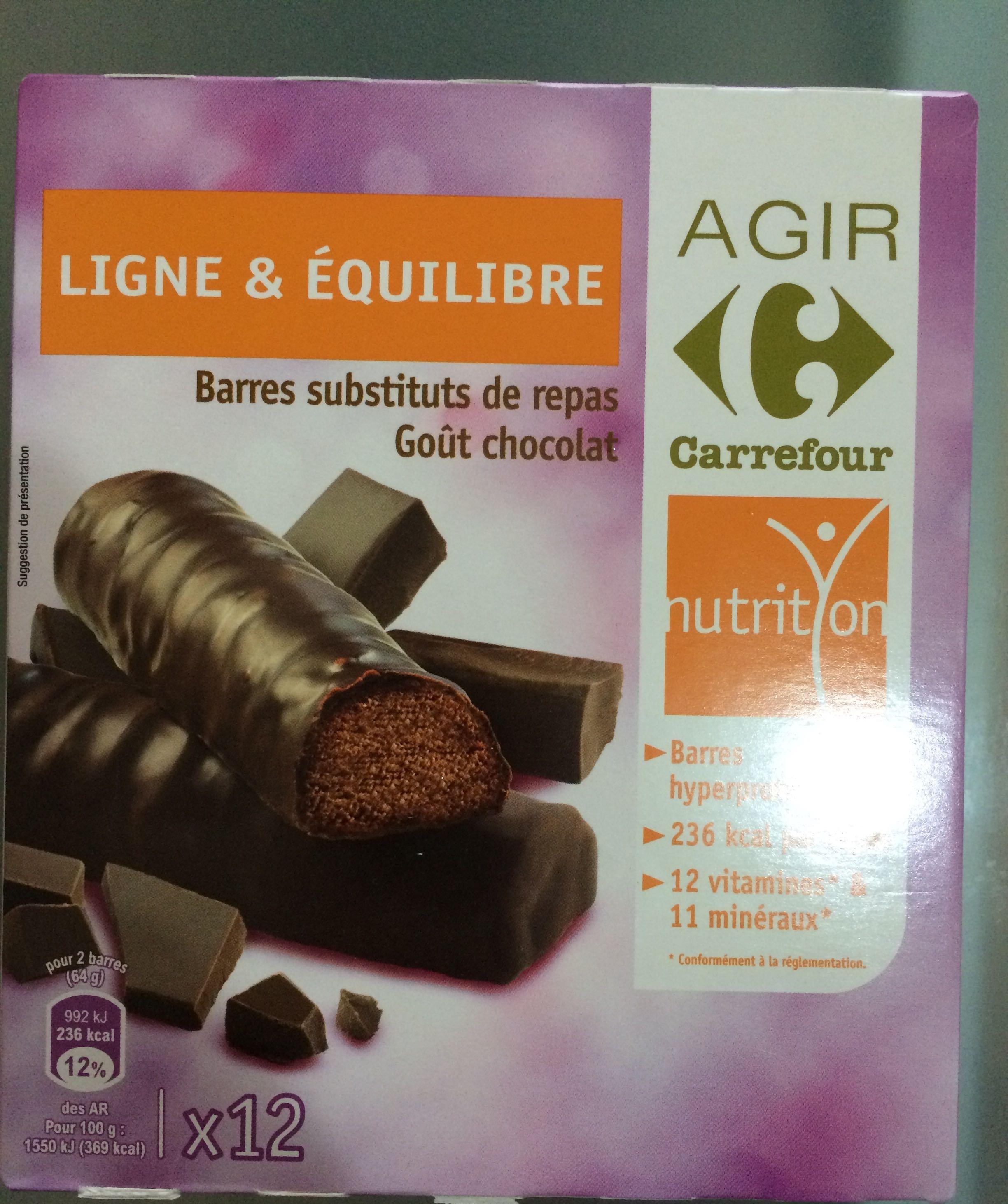 Barres substituts de repas Goût chocolat - Product