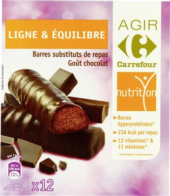 Barres substituts de repas Goût chocolat - Produit - fr