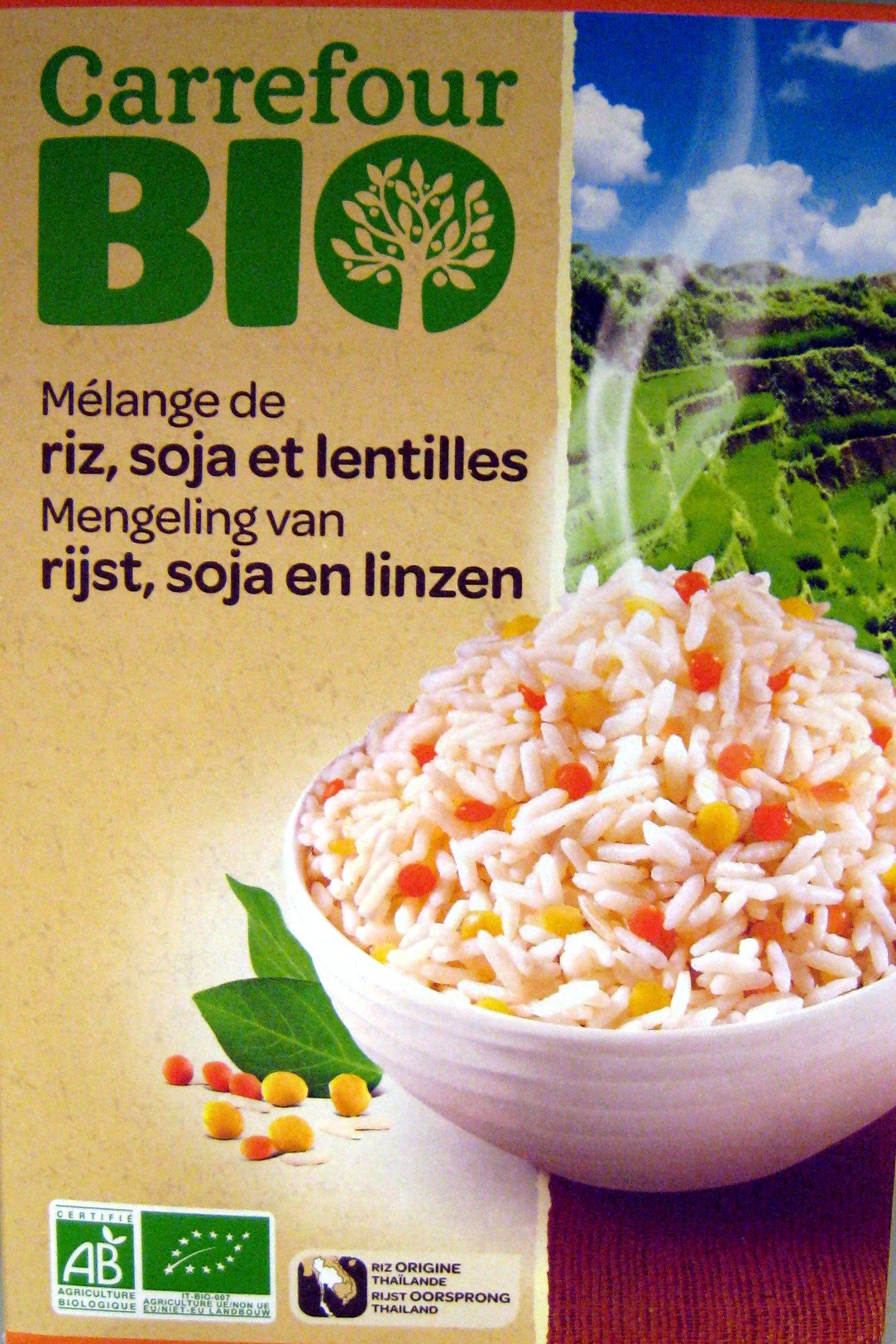 Mélange de riz, soja et lentilles Bio - 250 g - Carrefour - Product - fr