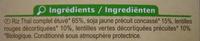Mélange de riz, soja et lentilles Bio - 250 g - Carrefour - Ingrediënten - fr