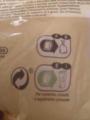 8 Tortillas - Istruzioni per il riciclaggio e/o informazioni sull'imballaggio - fr