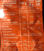 TORTILLA CHIPS GOÛT CHILI TASTE OF MEXICO* * Saveurs du MEXIQUE - Nutrition facts - fr