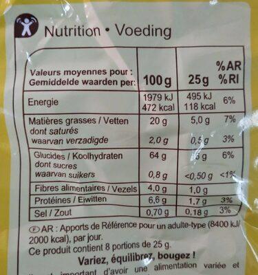 Tortilla chips - Voedingswaarden - fr