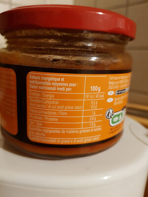 Salsa - Valori nutrizionali
