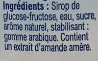 Sirop d'orgeat - Ingredients