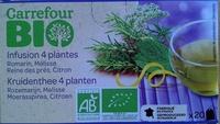 Infusion 4 plantes Romarin, Mélisse, Reine des prés, Citron - Product