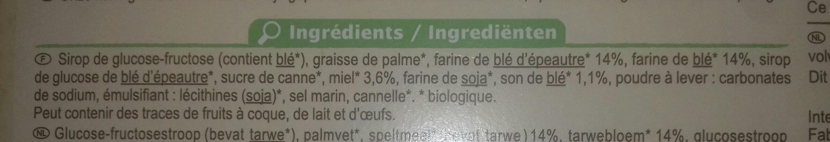 Gaufres au miel - Ingrédients - fr