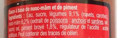 Sauce pour nems Carrefour - Ingrédients - fr