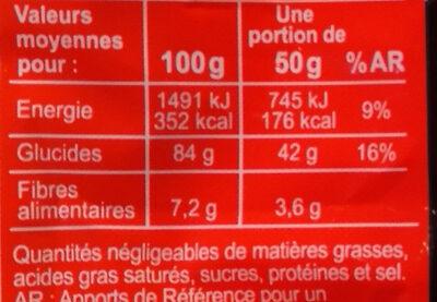 Vermicelles haricot mungo - Informations nutritionnelles - fr