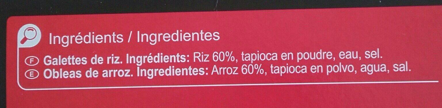 Galettes de Riz - Ingrediënten