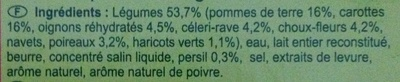 Mouliné aux  8 Légumes - Ingrediënten - fr