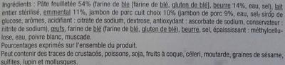 Feuilletés tressés emmental jambon - Ingrédients - fr