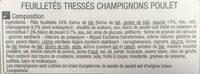 Feuilletés tresse poulet champignons - Ingredients - fr
