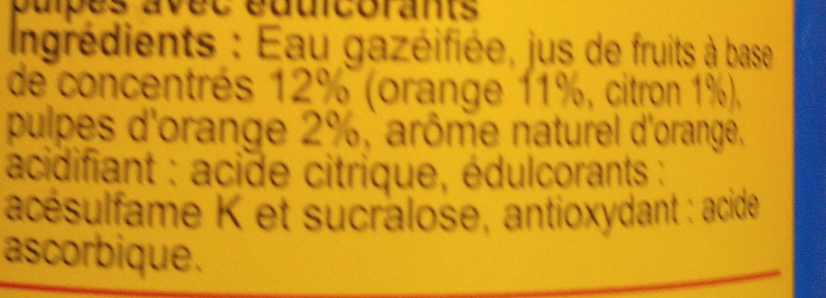 Pulp'saveur orangelight* - Ingrédients - fr
