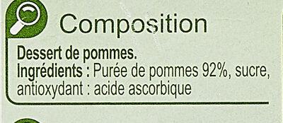PommeDessert de fruits - Inhaltsstoffe