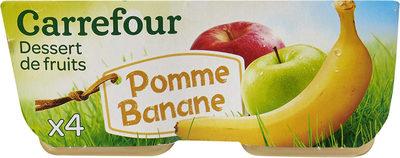 Pomme  Banane Dessert de fruits - Produit