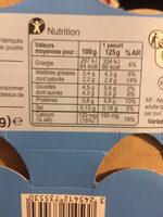 Yaour nature au lai entier - Informations nutritionnelles - fr