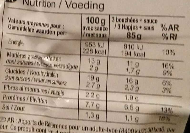 Plateau découverte - Nutrition facts - fr
