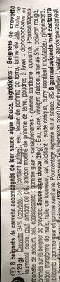 Beignets de Crevette, Sauce aigre-douce (x 6) - Ingrédients