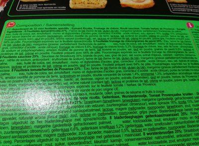 30 Mini feuilletés apéritifs - Ingrediënten