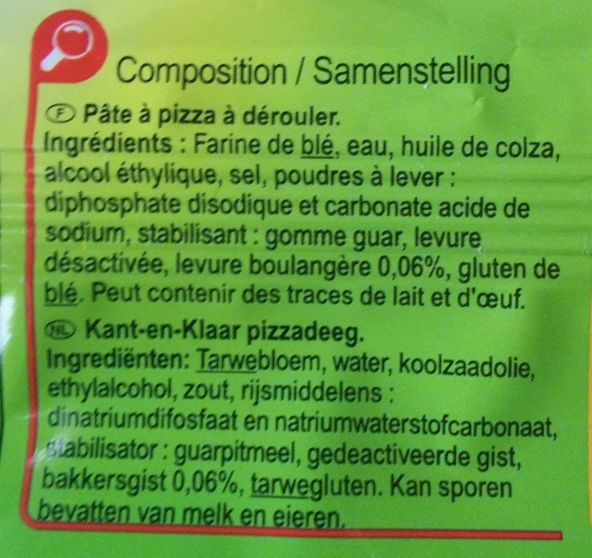 Pate A Pizza Ingredient