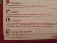 Saumon fumé ECOSSE - Ingrediënten - fr