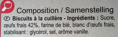Cuillers  Dégustation - Ingrédients