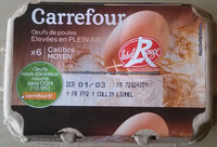 Oeufs de poules - Elevées en Plein Air - Calibre moyen - Product - fr