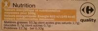 Oeufs de poules - Elevées en Plein Air - Calibre moyen - Nutrition facts - fr