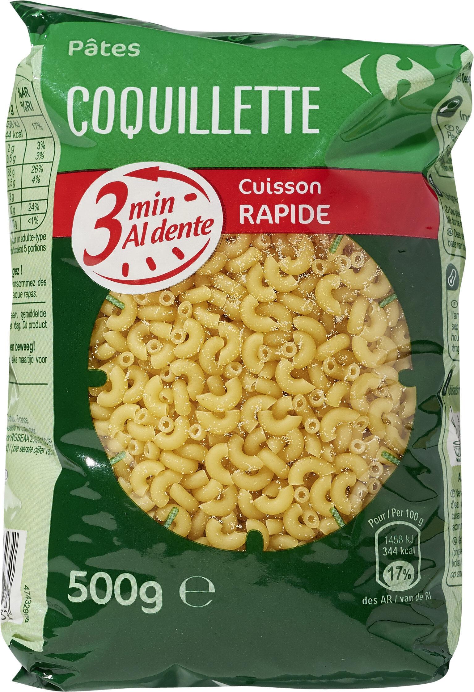 Coquillettes cuisson rapide 3 minutes - Produit - fr