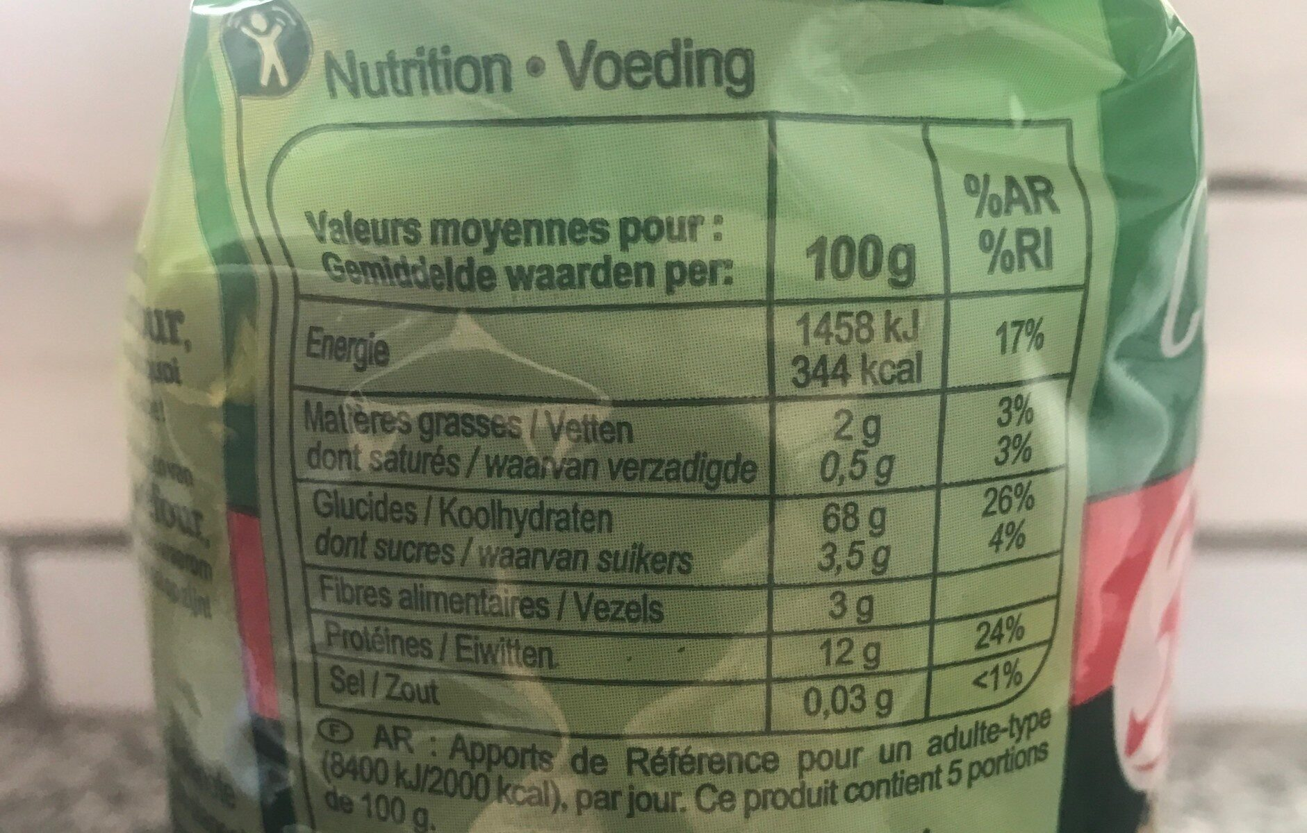 Coquillettes cuisson rapide 3 minutes - Informations nutritionnelles - fr