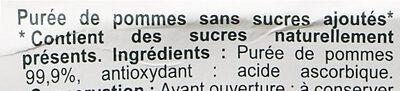 Pomme Sans sucres ajoutés - Ingrédients - fr