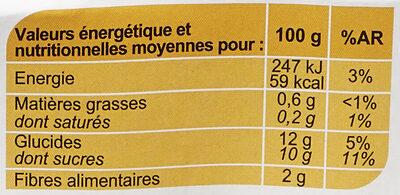 Pomme Sans sucres ajoutés - Informations nutritionnelles - fr
