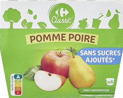 Sans sucres ajoutés pomme poire - Produit - fr