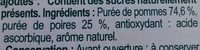 Sans sucres ajoutés pomme poire - Ingrédients - fr