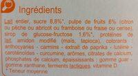 Yaourt aux Fruits Mixés - Ingredients