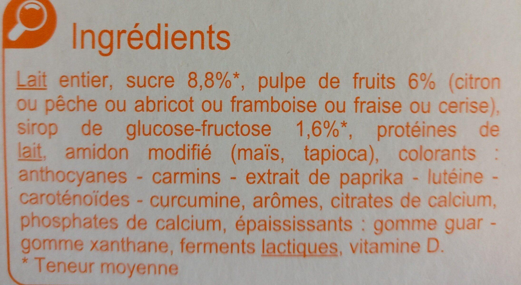 Brassé Fruits Mixés - 成分 - fr