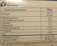 Brassé Fruits Mixés - 营养成分 - fr