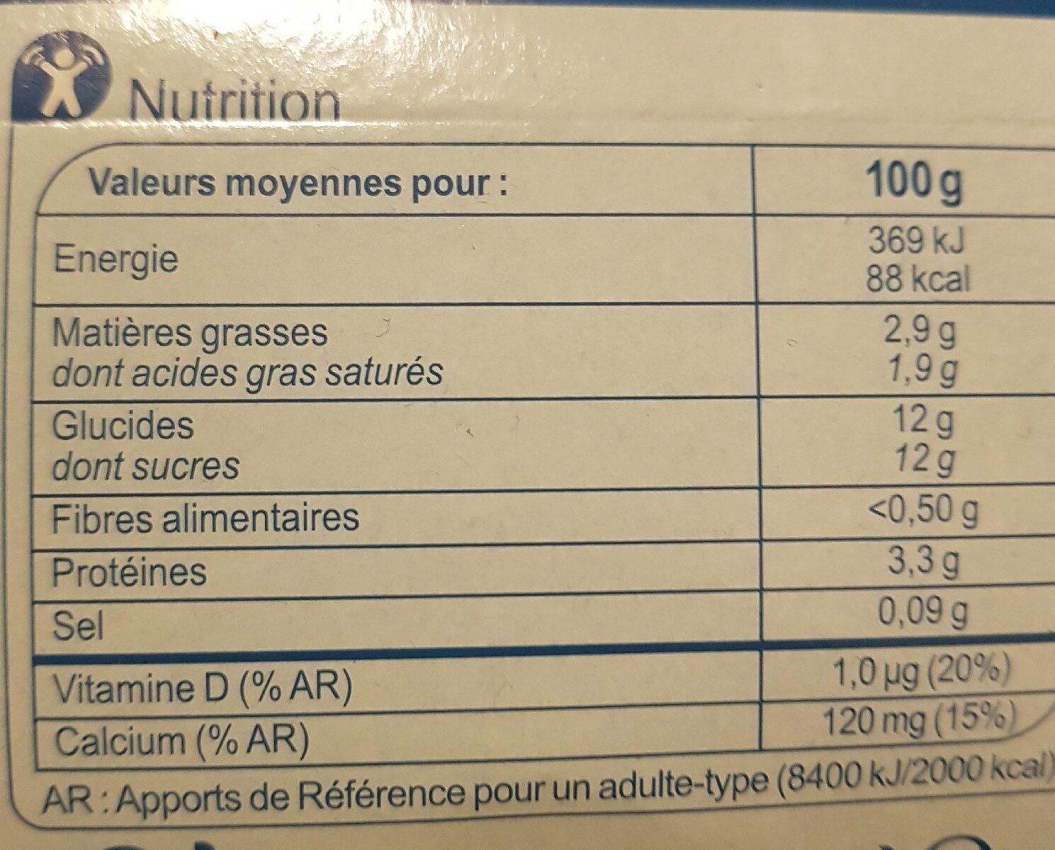 Brassé Fruits Mixés - Voedingswaarden - fr