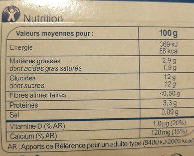 Brassé Fruits Mixés - Informations nutritionnelles - fr