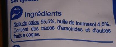 Noix de cajou grillées - Ingredienti - fr