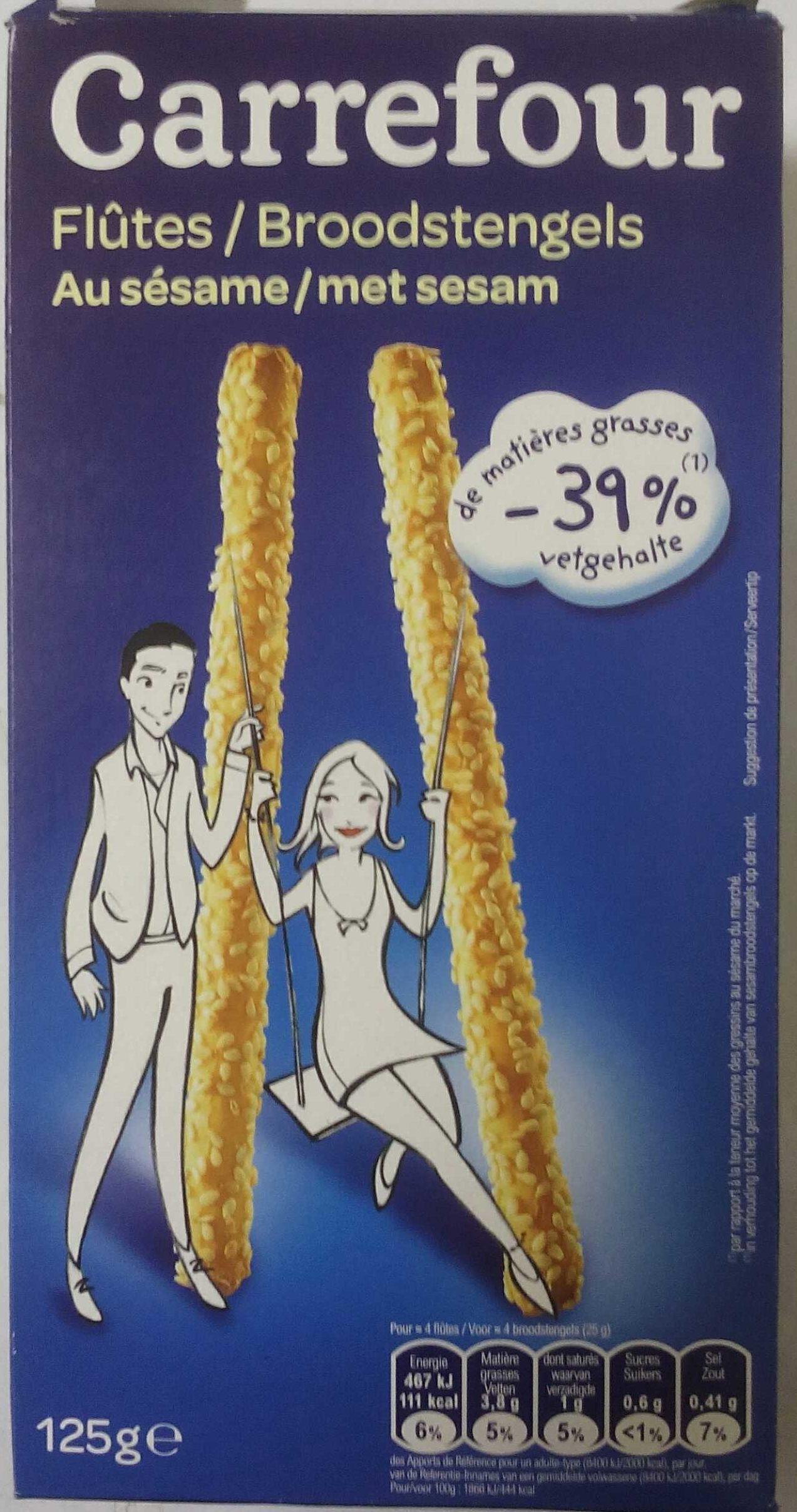 Flûtes au sésame - Product - fr